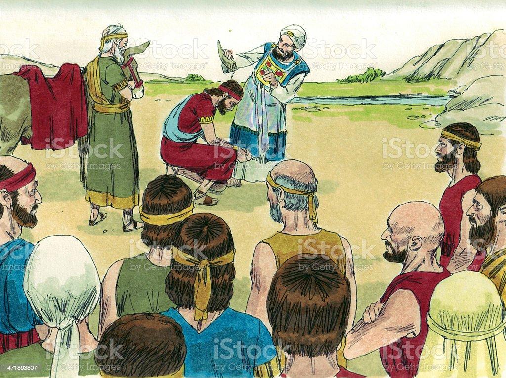 Solomon Anointed King stock photo