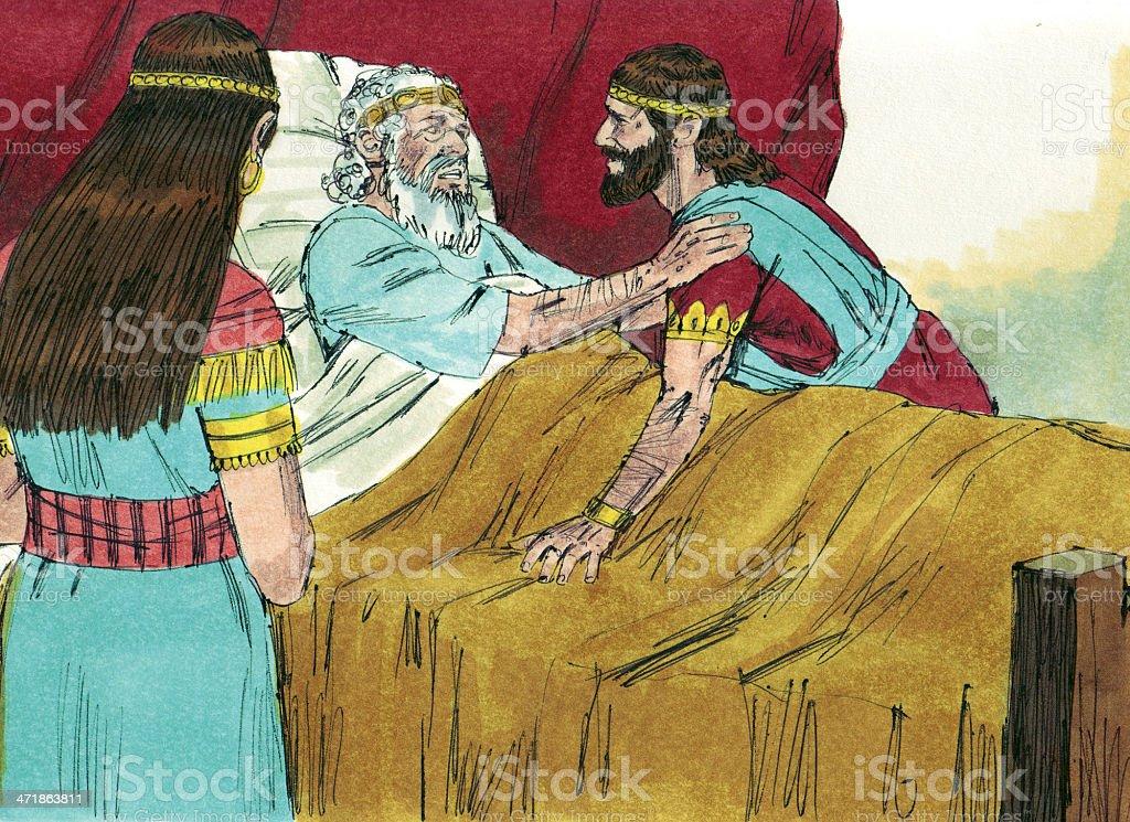 Solomon at David's Deathbed stock photo