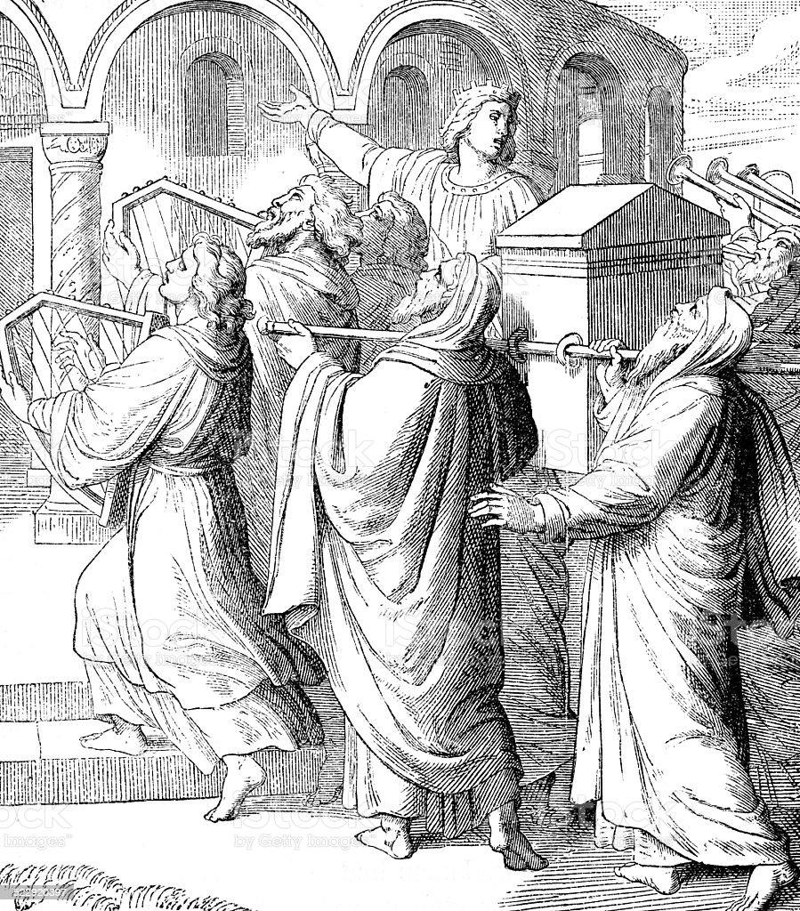 Solomon Brings the Ark Into the Temple stock photo