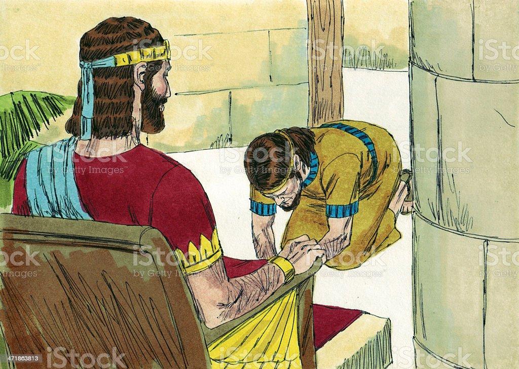 Solomon Calls for Adonijah royalty-free stock photo