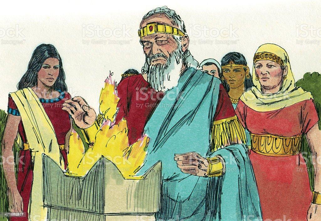 Solomon Disobeyed God stock photo