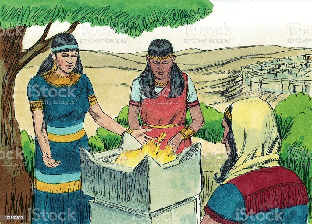 Solomon Had Many Wives and Concubines stock photo