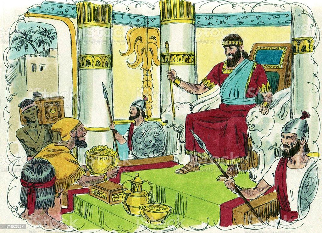Solomon Hears from God through Dream stock photo