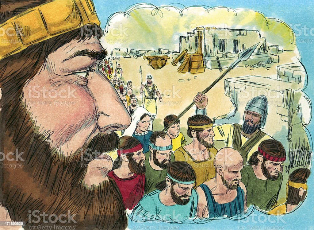 Solomon Hears From the Lord 2 royalty-free stock photo