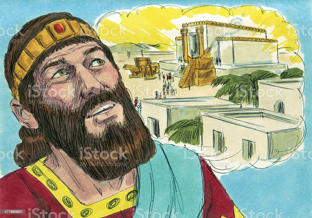 Solomon Hears From the Lord stock photo