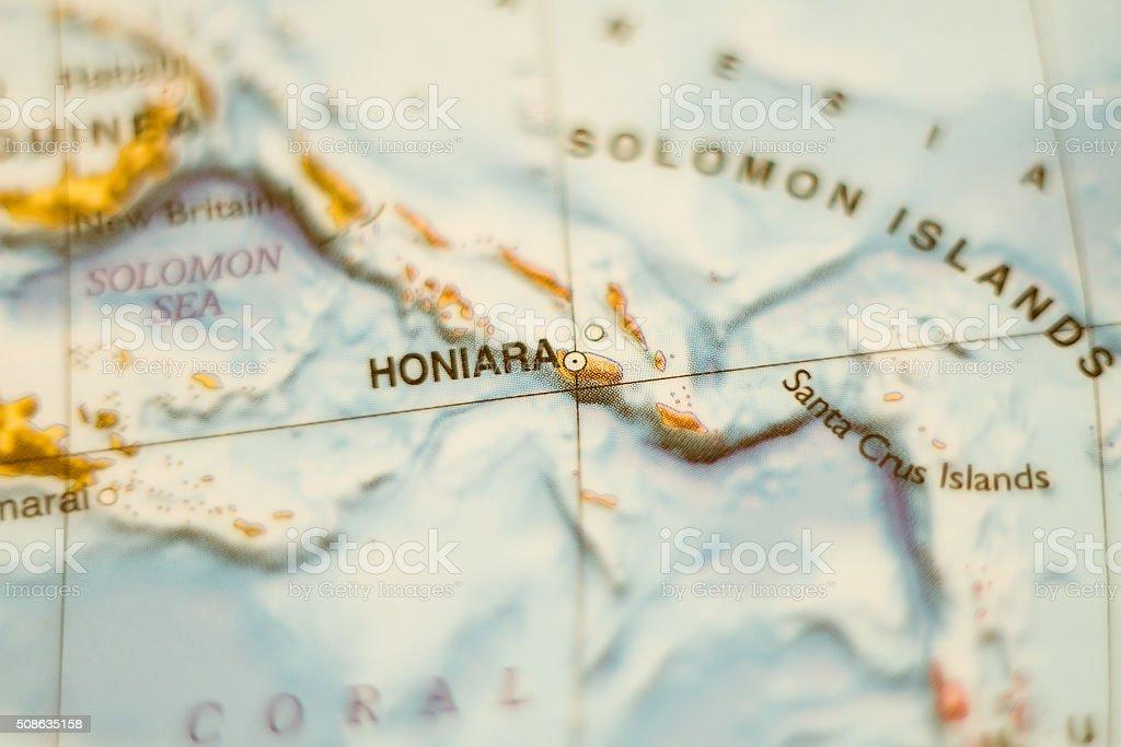 Solomon Islands country map . stock photo