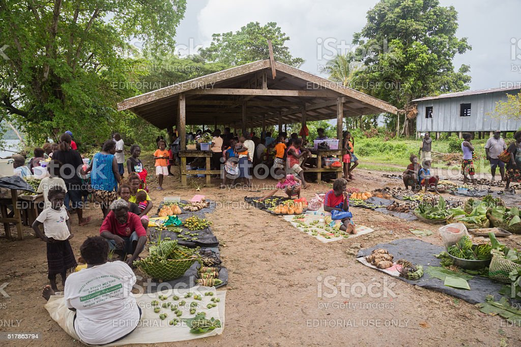 Solomon Islands Local Market stock photo