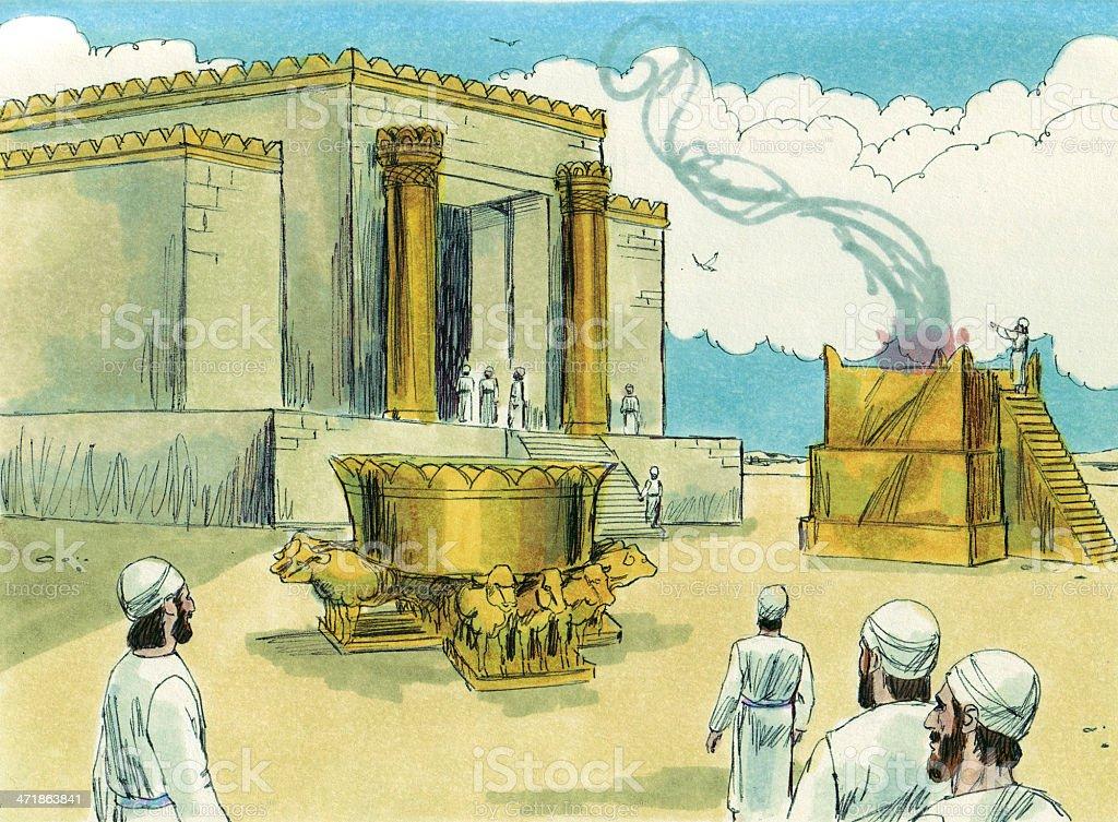 Solomon Rebuilds Temple stock photo