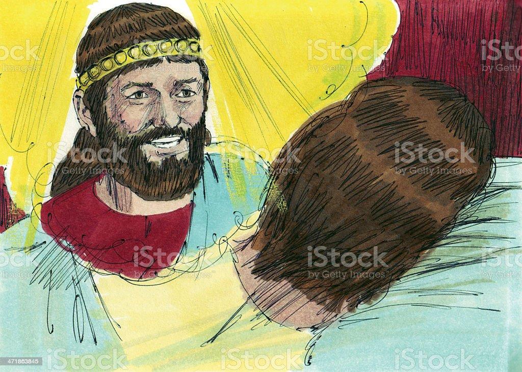 Solomon Talks with God in Dream stock photo