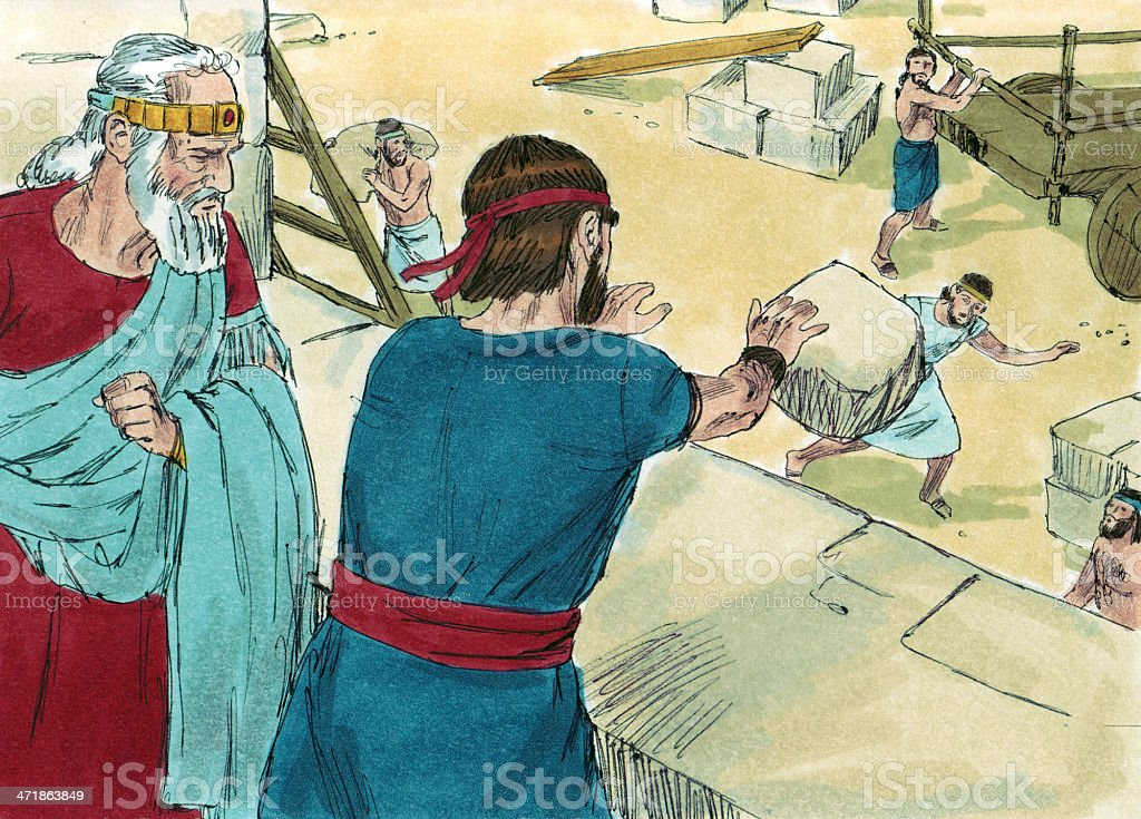 Solomon Tries to Kill Jeroboam stock photo