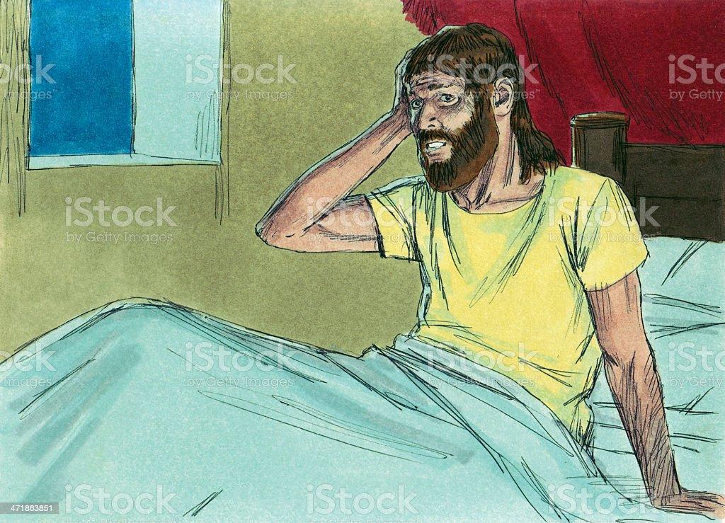 Solomon Wakes From Dream stock photo