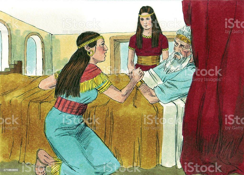 Solomon--Bathsheba Talks with David stock photo