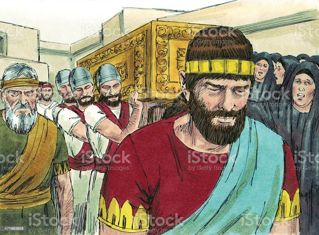 Solomon--David's Burial stock photo