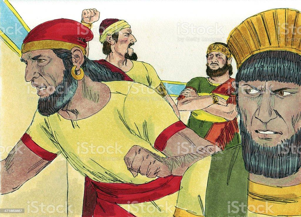 Solomon--King Rehoboam Unkind royalty-free stock photo