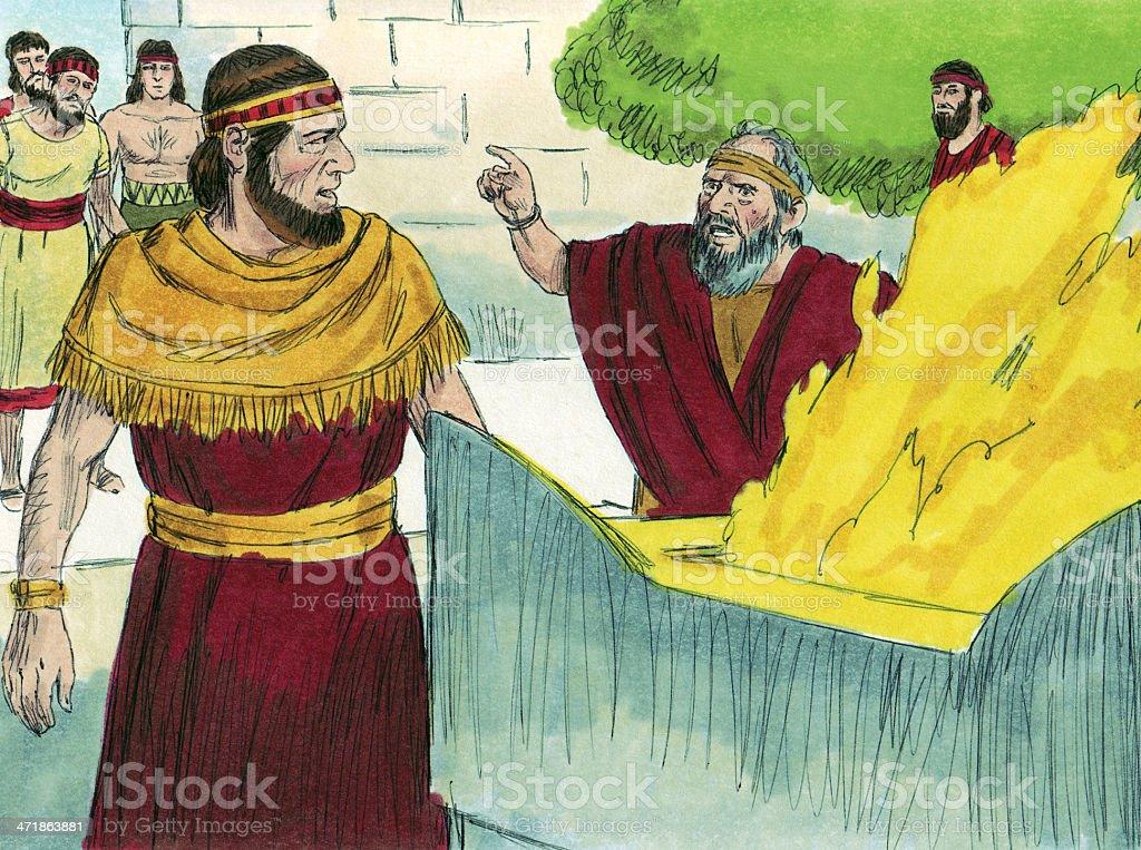 Solomon--Rehoboam Angers God stock photo