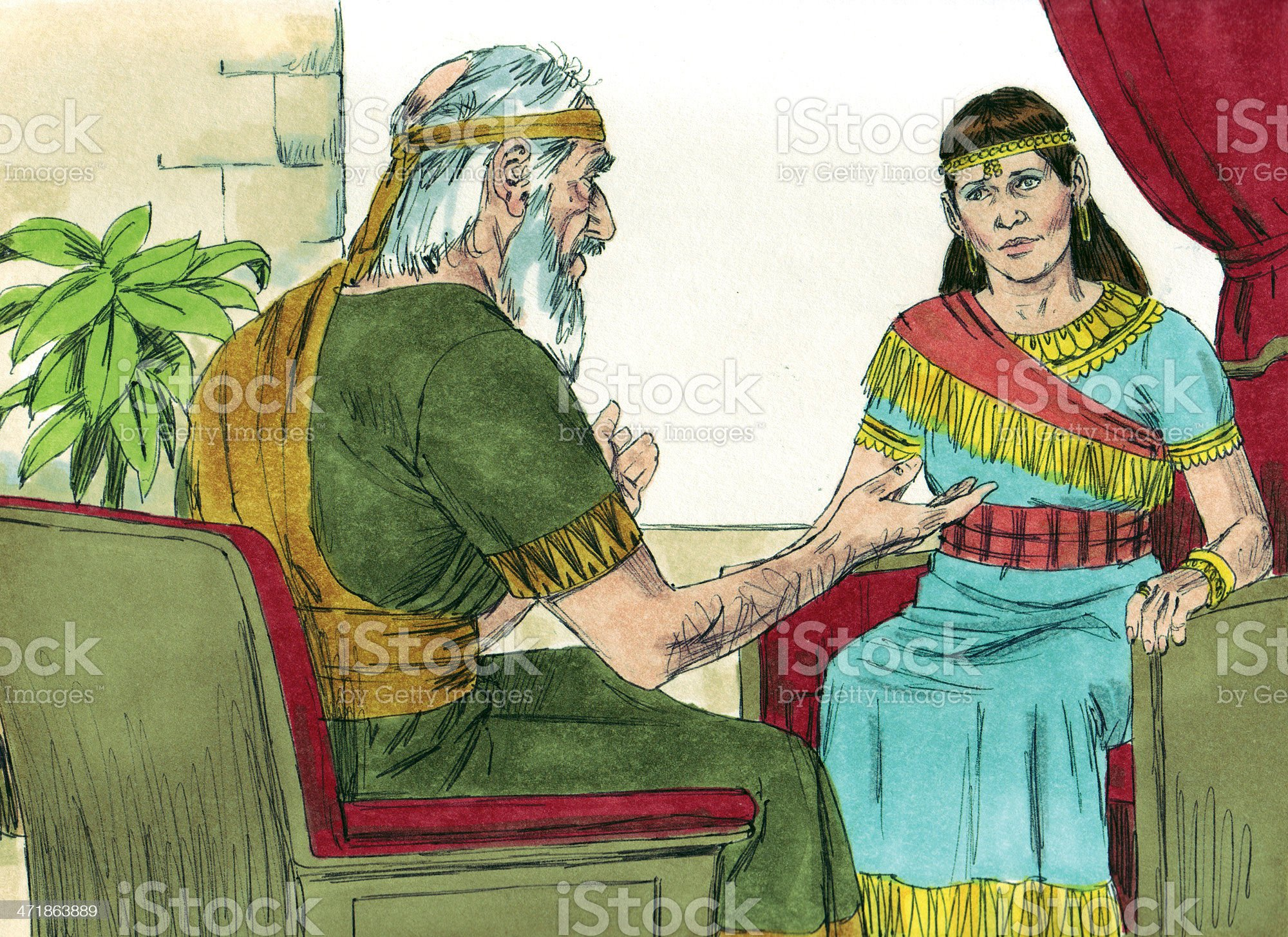 Solomon's Mother Bathsheba Warned royalty-free stock photo