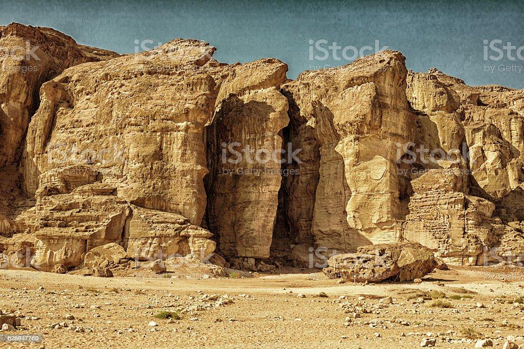 Solomons Pillars, Timna Park stock photo