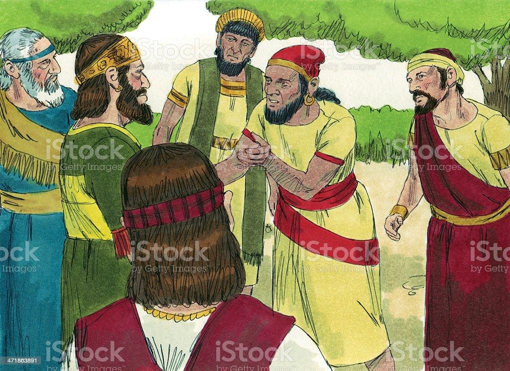 Solomon's Son Rehoboam to be King stock photo