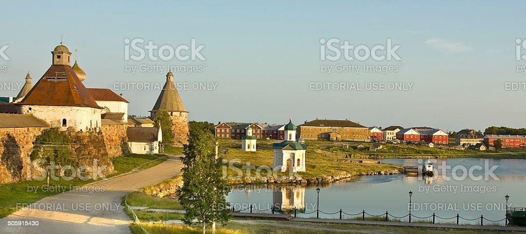 Solovetskiy monastery stock photo
