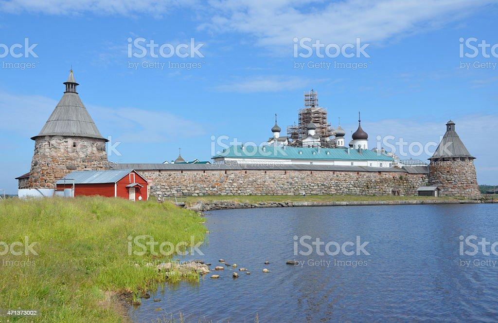 Solovetsky monastery, Russia stock photo