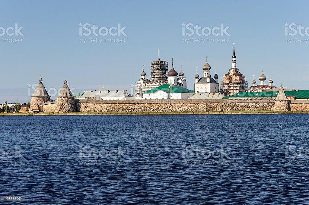 Solovetsky (Spaso-Preobrazhensky) monastery, Russia stock photo