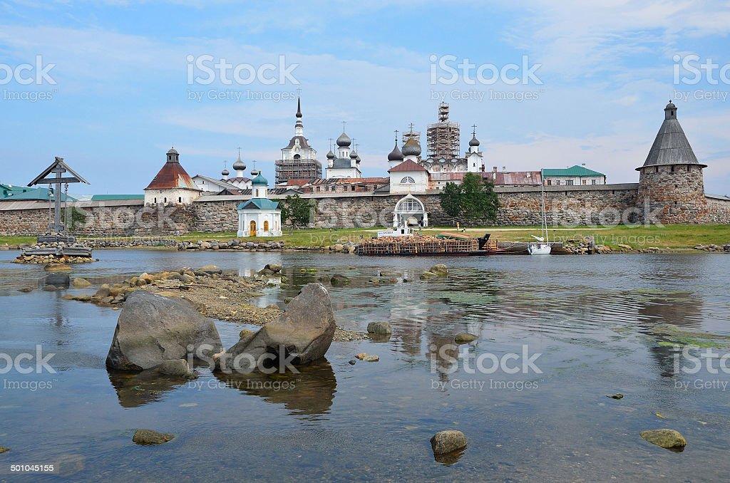 Solovetsky monastery, Russia. stock photo