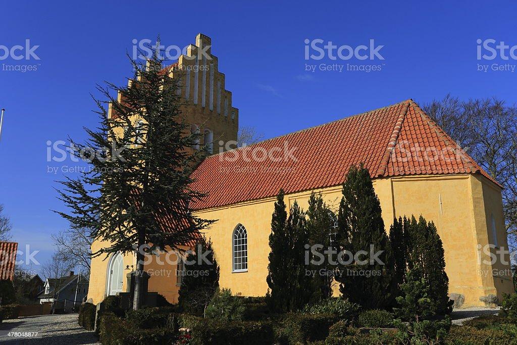 Solrød Kirke parish church royalty-free stock photo