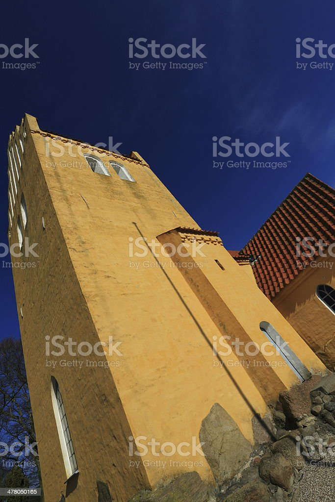 Solrød Kirke parish church royalty-free stock photo