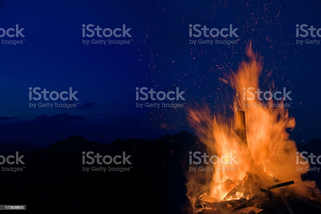 Solstice Fire stock photo