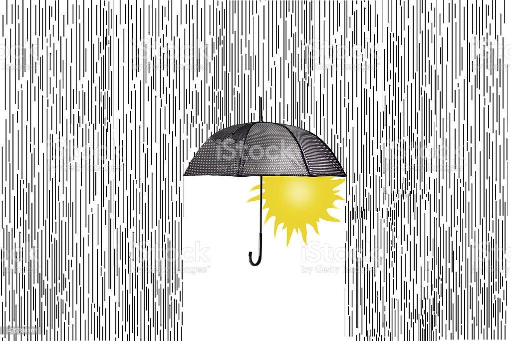 Soltse and rain. ????? ? ????? stock photo