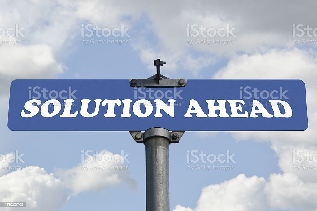 Solution ahead road sign royalty-free stock photo