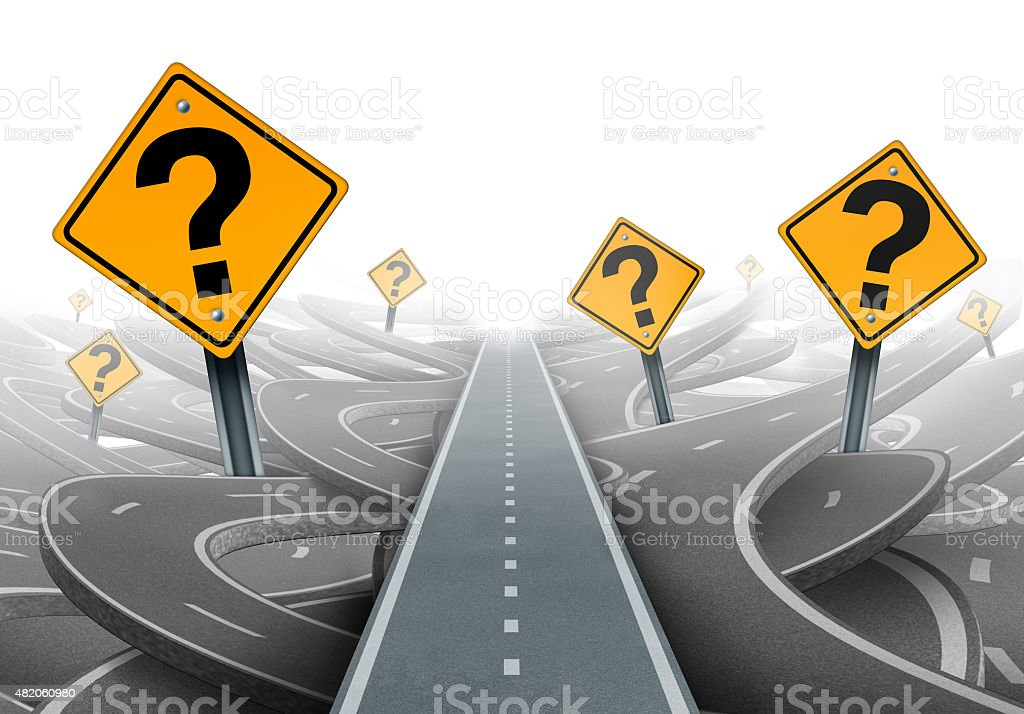 Solution and Strategy Path stock photo