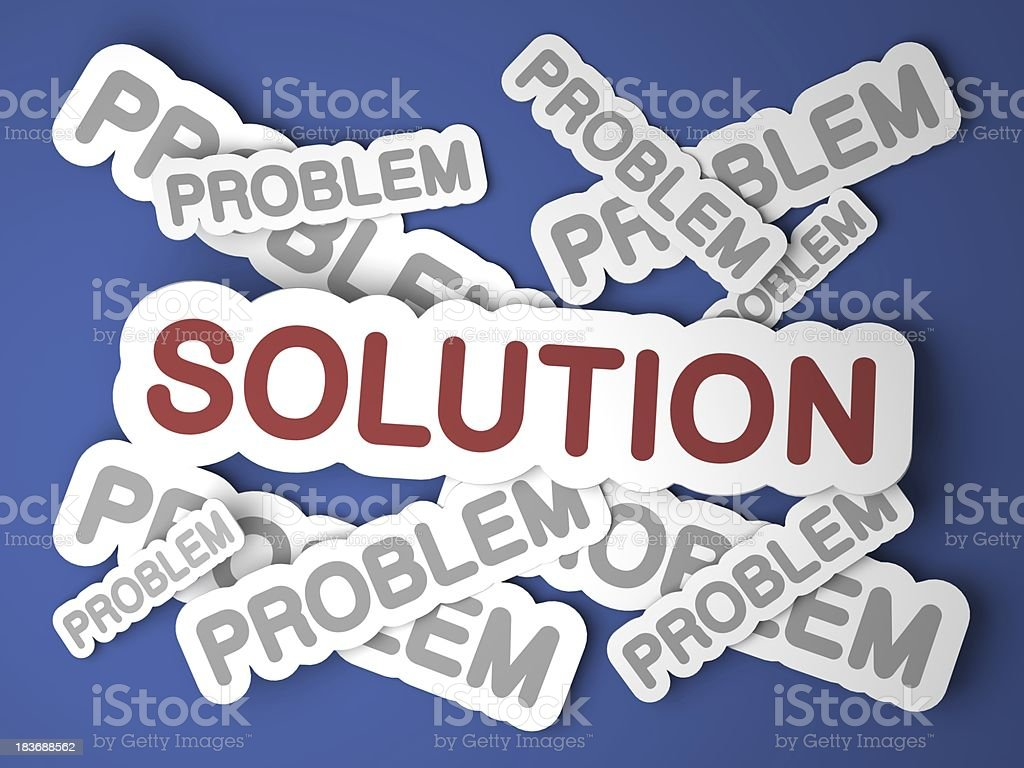 Solution. Business Concept. royalty-free stock photo