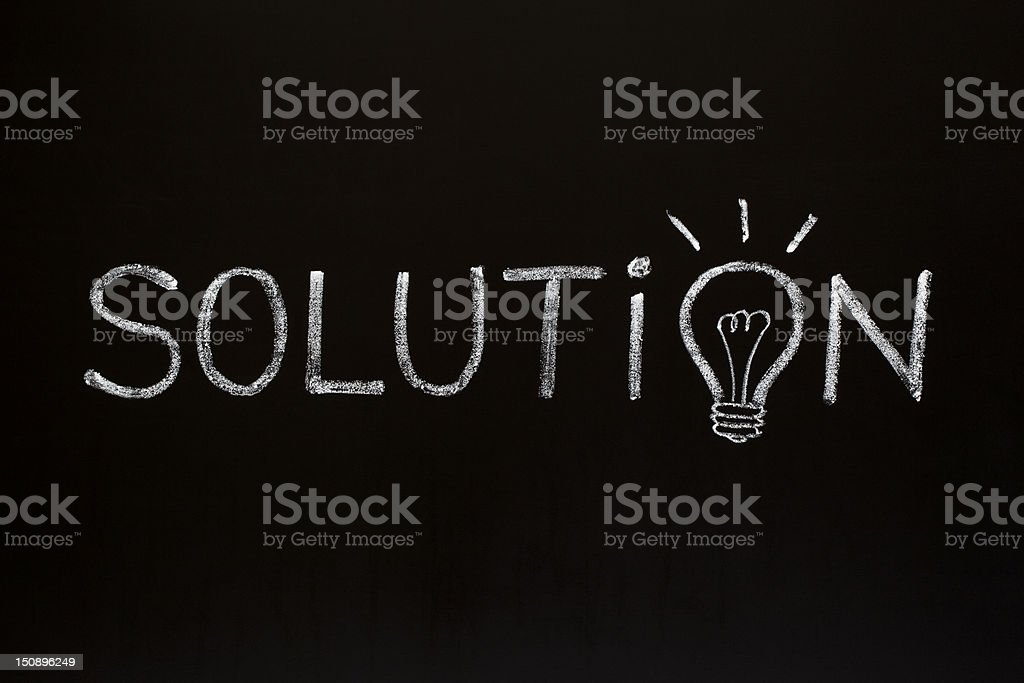 Solution concept on blackboard royalty-free stock photo