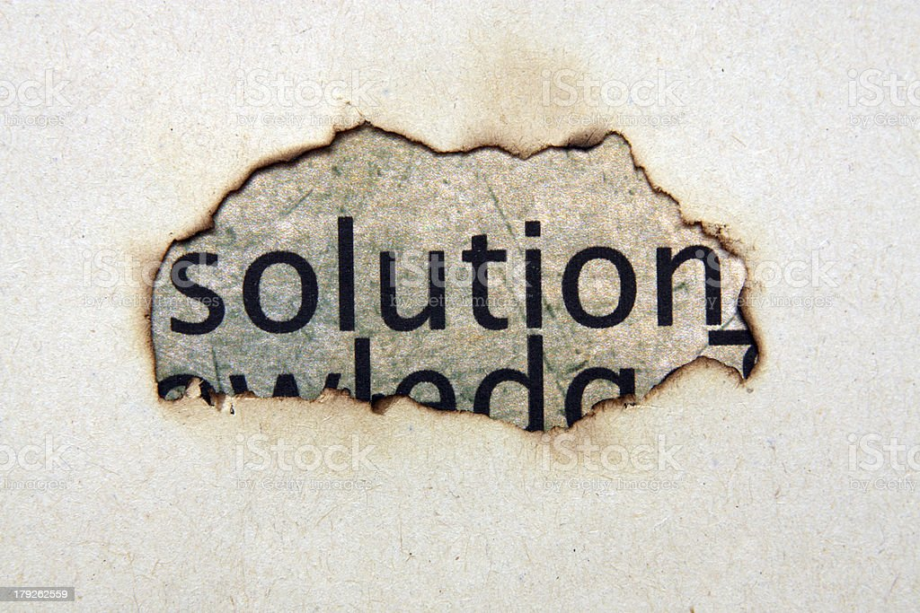 Solution concept royalty-free stock photo