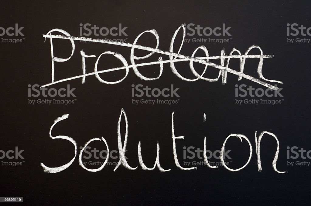 solution for business problem royalty-free stock photo
