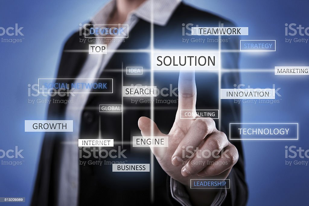 Solution idea stock photo