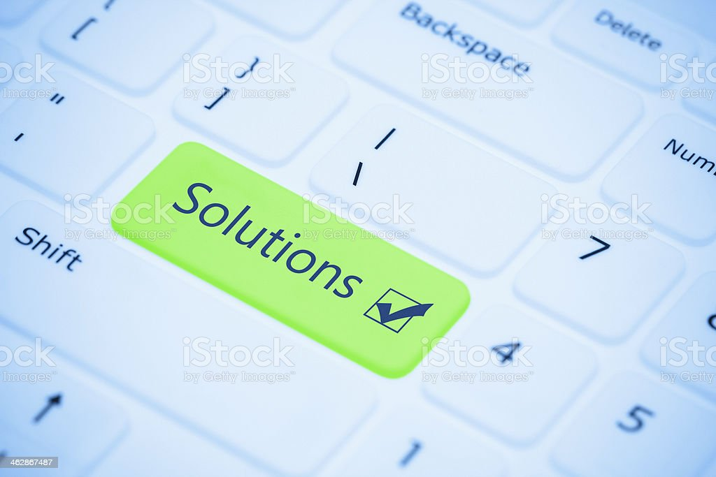Solution key stock photo