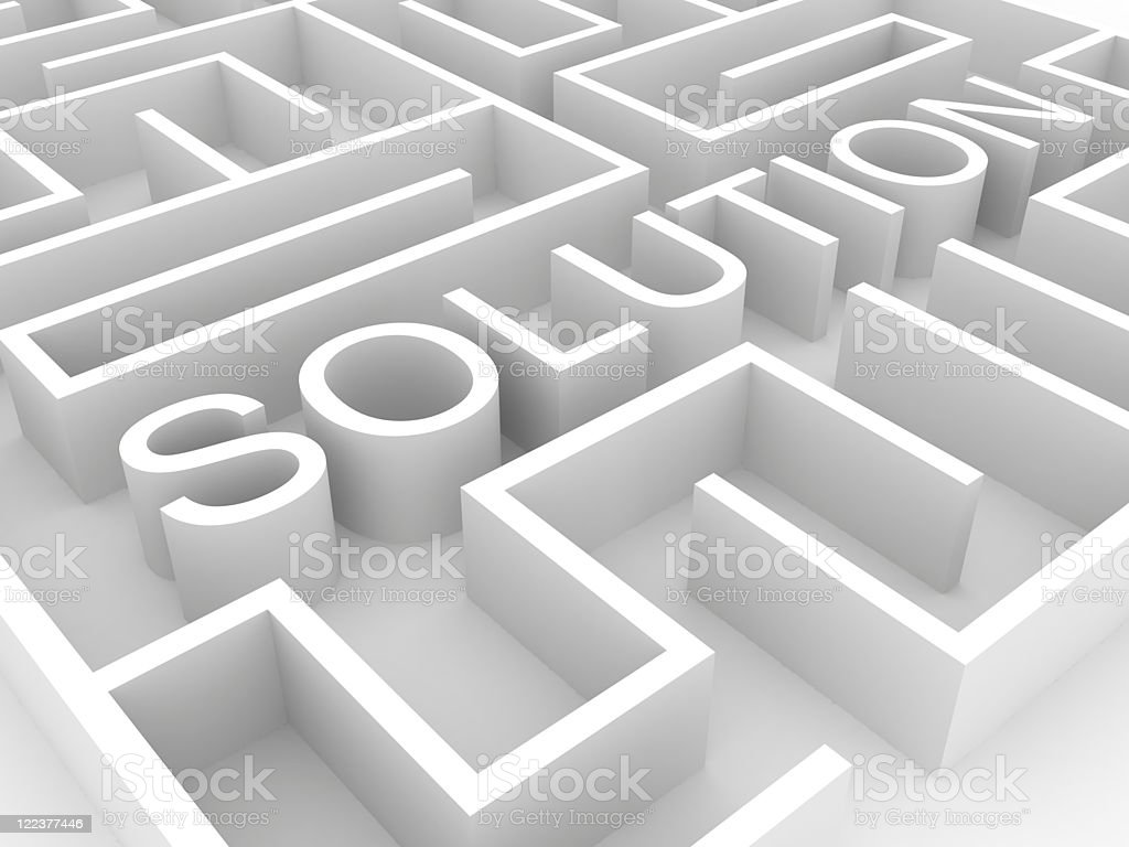 Solution Labyrith royalty-free stock photo