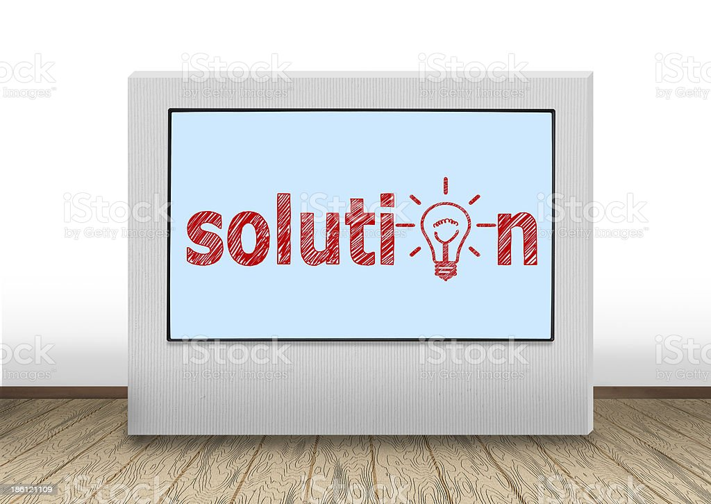 solution on wall royalty-free stock photo