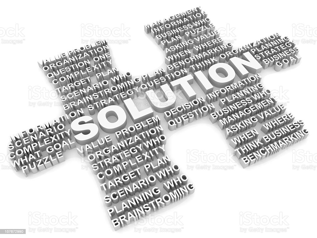 Solution Puzzle royalty-free stock photo