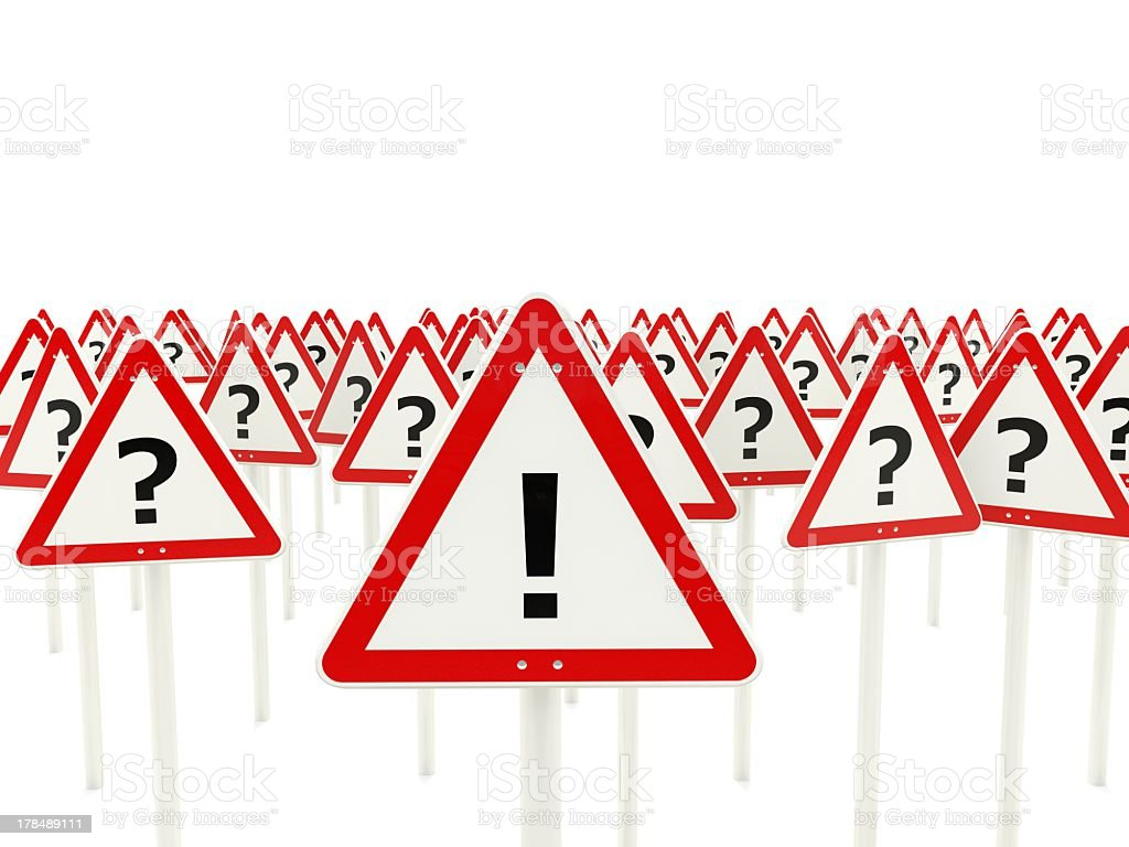 Solution road sign royalty-free stock photo