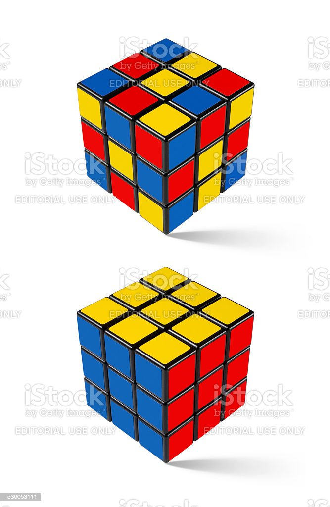 Solution. Rubik's Cube. stock photo