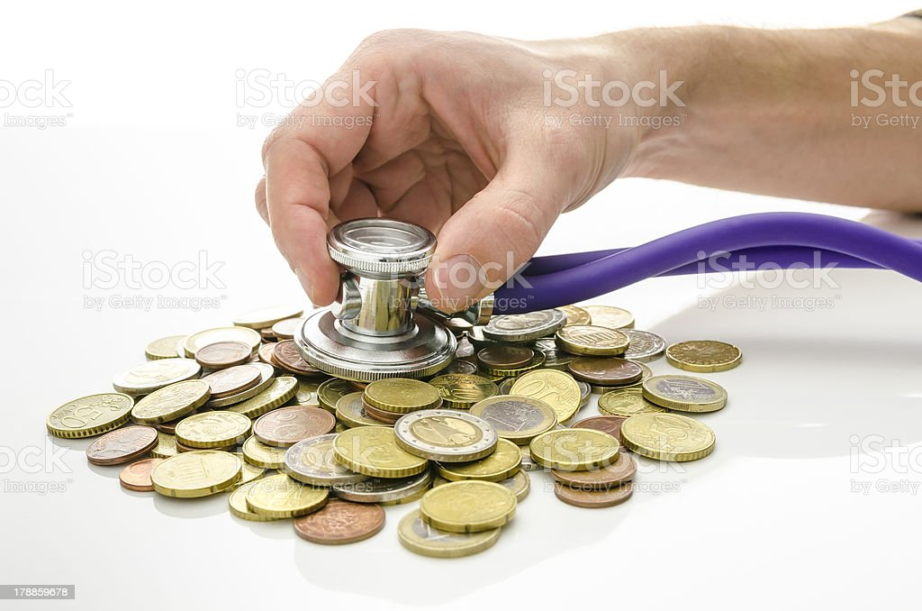 Solution to financial crisis concept royalty-free stock photo