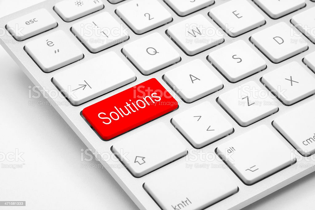 Solutions button on the keyboard royalty-free stock photo