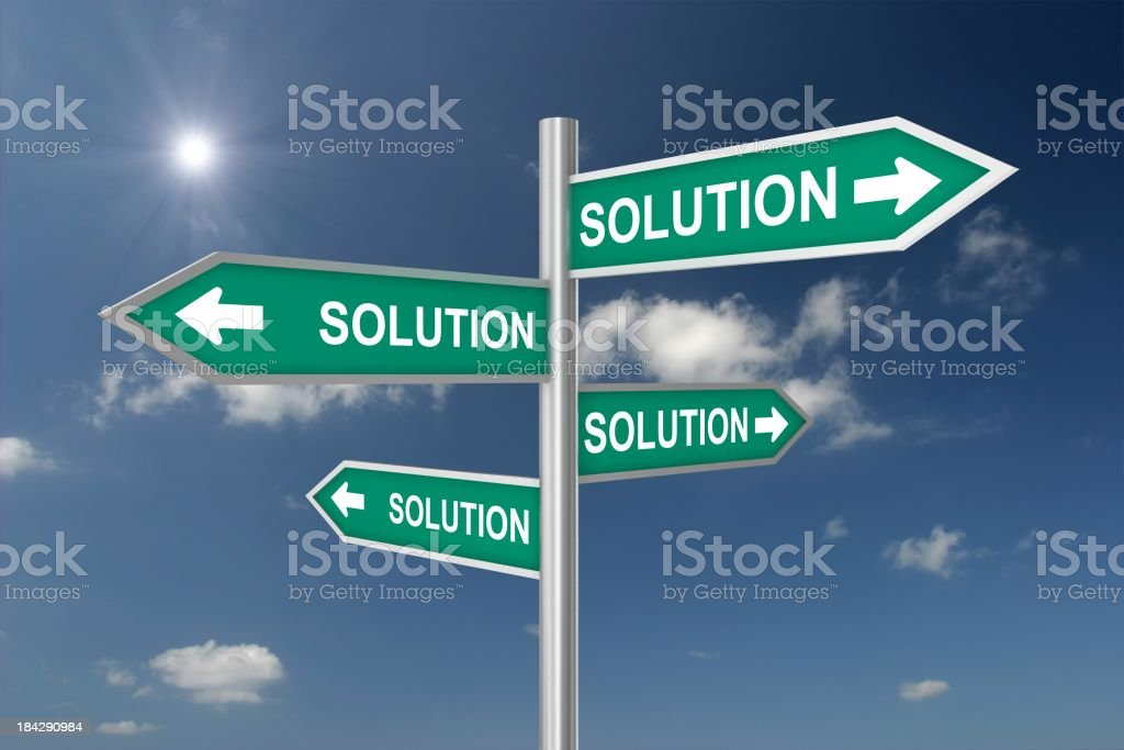 Solutions Choices royalty-free stock photo