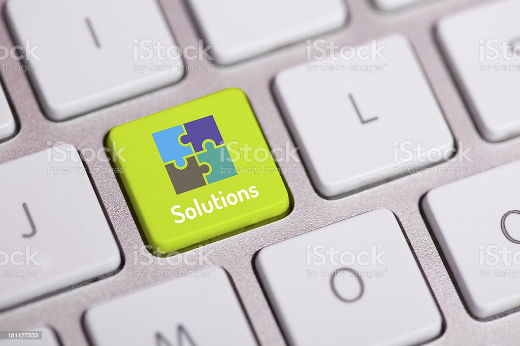 Solutions Concept on Keyboard royalty-free stock photo