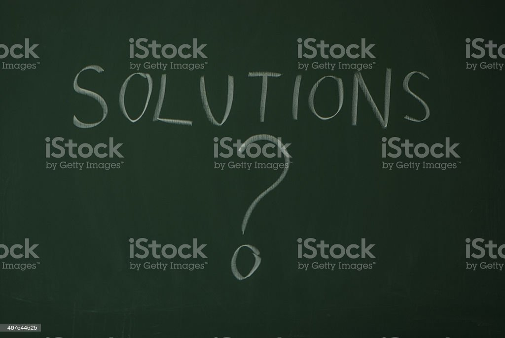 Solutions? royalty-free stock photo