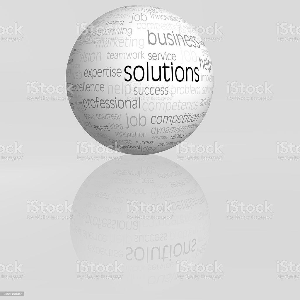 solutions sphere stock photo