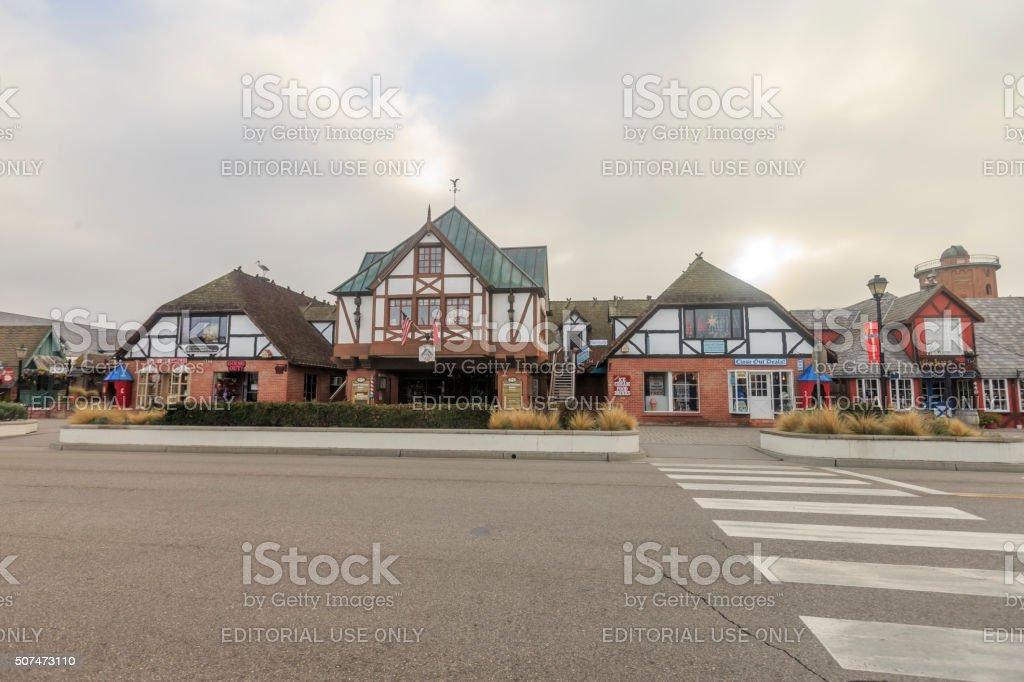 Solvang Danish Style Architectured Shopping Street stock photo